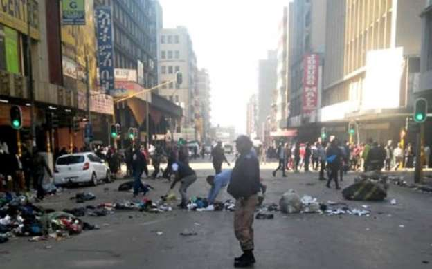 Protests in Johannesburg