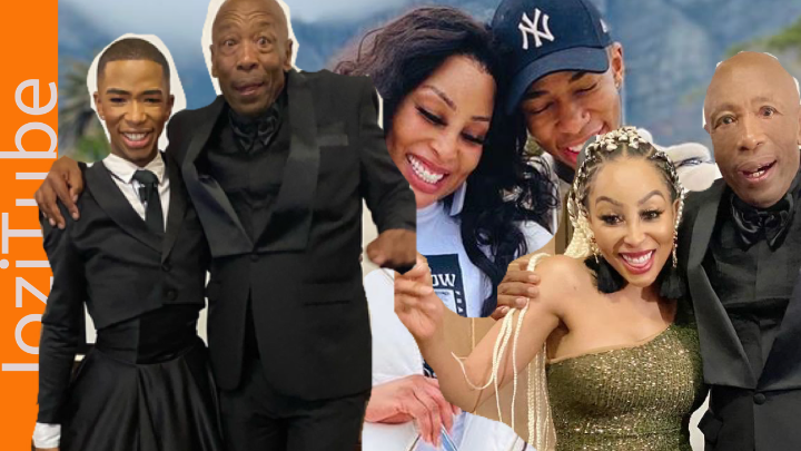 Khanyi and Lasizwe with their father